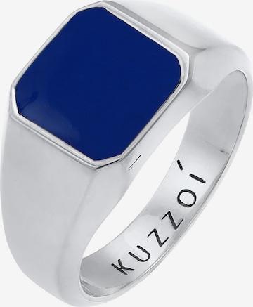 KUZZOI Ring Enamel, Siegelring in Silber