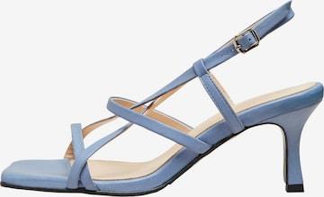 Sandales à lanières 'Ashley' SELECTED FEMME en bleu