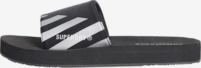 Superdry Beach & Pool Shoes 'Swim Sport' in Black / Silver, Item view
