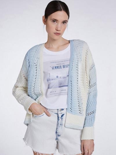SET Cardigan in hellblau / weiß, Modelansicht