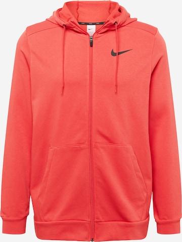 Bluză cu fermoar sport de la NIKE pe roșu