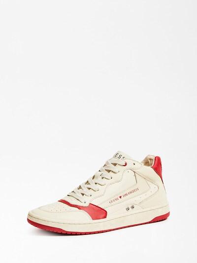 GUESS Sneaker in beige / blutrot, Produktansicht