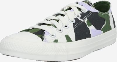 CONVERSE Baskets basses en vert / blanc, Vue avec produit