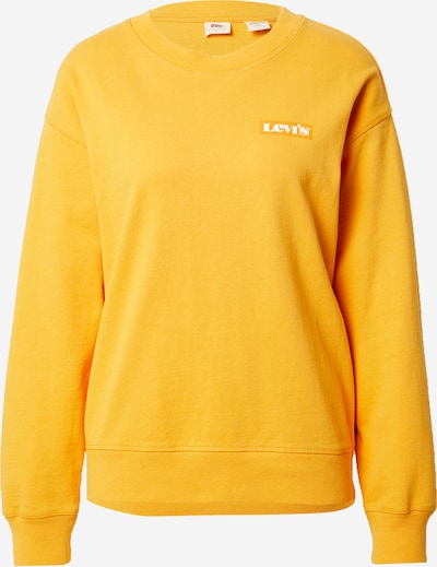 LEVI'S Sweatshirt in goldgelb / weiß, Produktansicht