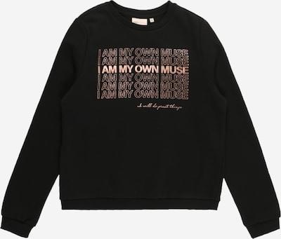 KIDS ONLY Sweatshirt 'GABY' in de kleur Rosé / Zwart, Productweergave