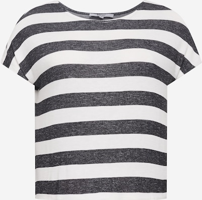 Tricou 'Lamya' ABOUT YOU Curvy pe negru / alb, Vizualizare produs