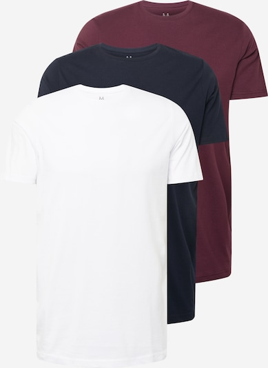 Tricou 'Jermane' Matinique pe roșu burgundy / negru / alb, Vizualizare produs