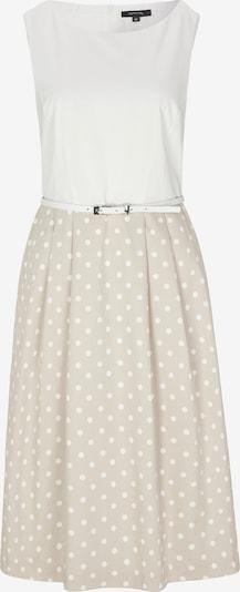 COMMA Kleid in beige / weiß, Produktansicht