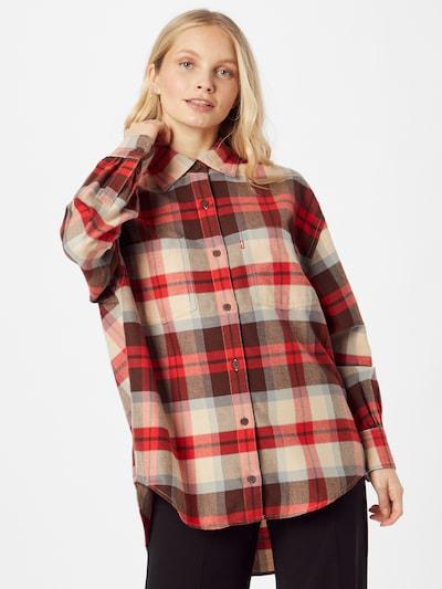 LEVI'S Bluse 'REMI' in beige / rauchblau / braun / rot, Modelansicht