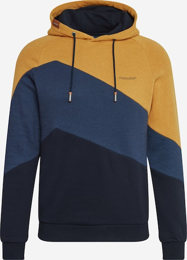Ragwear Sweatshirt 'TRIPSY' i navy / natblå / curry: Frontvisning