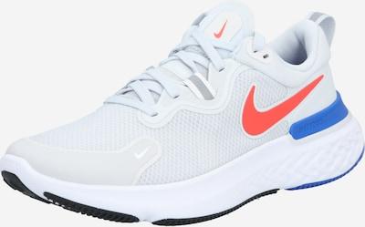 NIKE Chaussure de course 'React Miler' en bleu / gris clair / rouge orangé, Vue avec produit