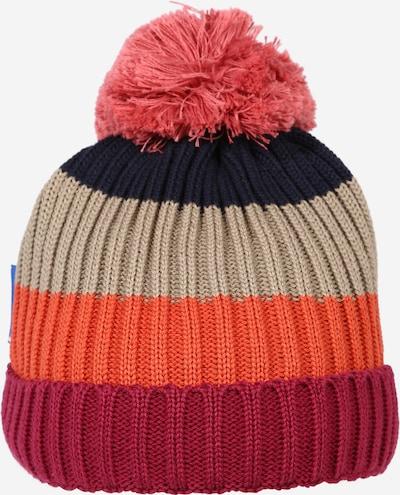 FINKID Cepure 'POMPULA', krāsa - pelēcīgs / oranžs / vīnsarkans / melns, Preces skats