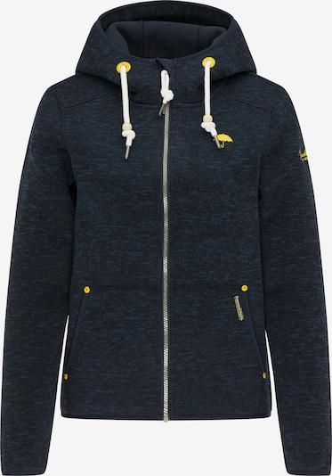 Schmuddelwedda Outdoorjas in de kleur Navy / Neongeel / Wit, Productweergave