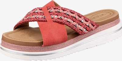 Laufsteg München Pantolette in pink / rot / silber, Produktansicht
