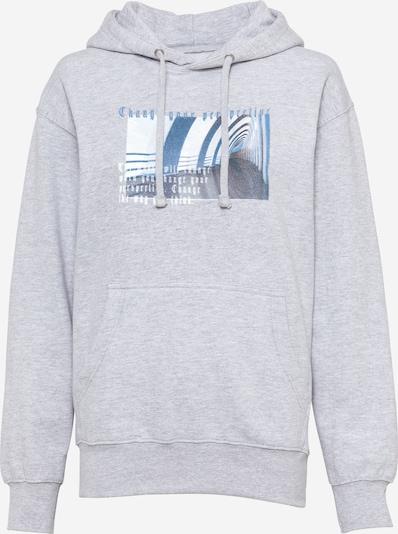 Daisy Street Sweatshirt 'JOSIE' in blau / graumeliert / weiß, Produktansicht