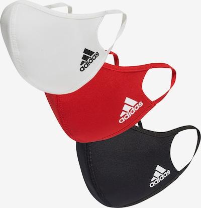 ADIDAS PERFORMANCE Schutzmaske in rot / schwarz / weiß, Produktansicht