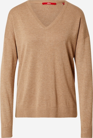 s.Oliver Sweter w kolorze brązowy