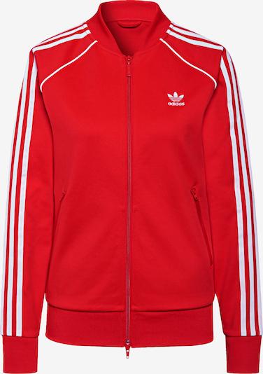 ADIDAS ORIGINALS Sweatjacke in rot / weiß, Produktansicht
