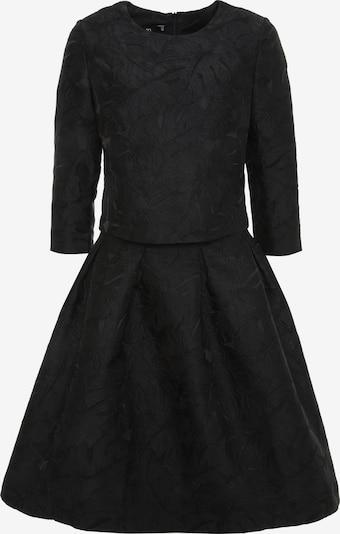 Madam-T Kleid 'Otra' in schwarz: Frontalansicht