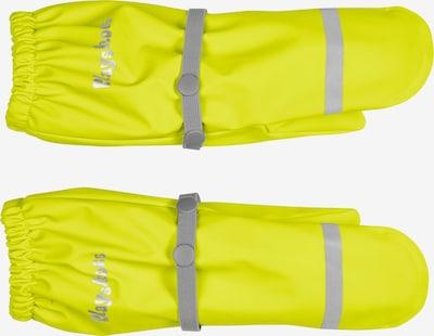 PLAYSHOES Gants en jaune fluo / gris, Vue avec produit