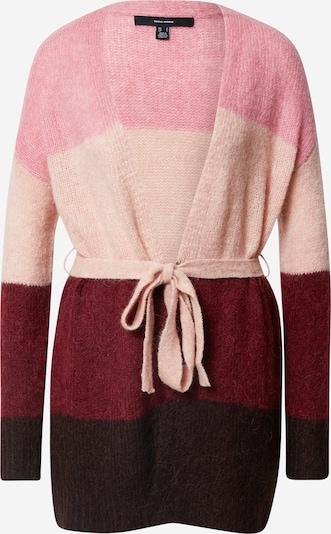 VERO MODA Strickjacke 'Isabella' in braun / rosa / bordeaux, Produktansicht