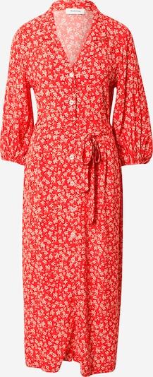 modström Skjortklänning i brokad / ljusröd / vit, Produktvy