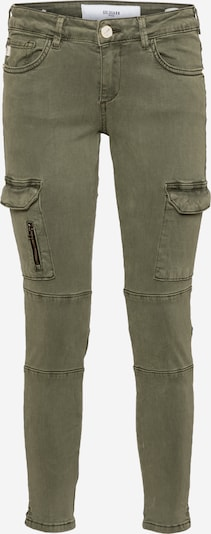 Goldgarn Jeans cargo en olive, Vue avec produit