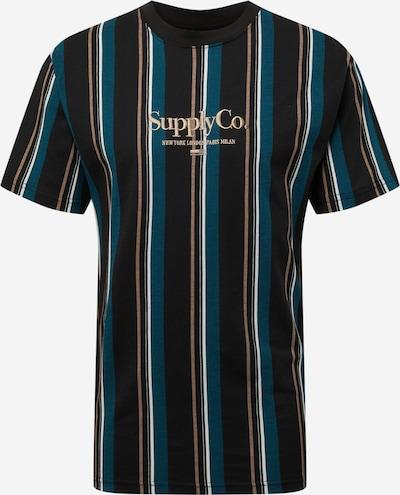 Cotton On Тениска 'Downtown' в светлобежово / петрол / черно / бяло: Изглед отпред