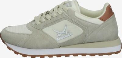 SANSIBAR Sneaker in hellbraun / hellgrau / offwhite, Produktansicht