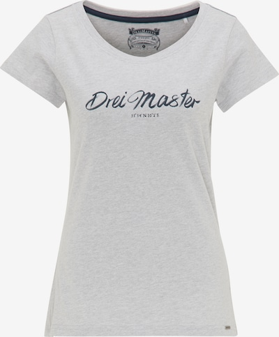 Tricou DreiMaster Vintage pe bleumarin / gri, Vizualizare produs