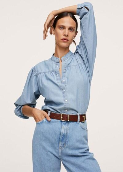 MANGO Bluse 'Vega' in blau, Modelansicht