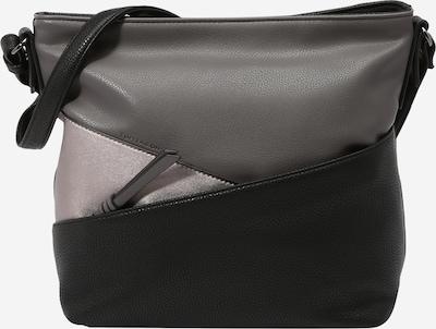 TOM TAILOR Umhängetasche 'Elina' in grau / dunkelgrau / schwarz, Produktansicht