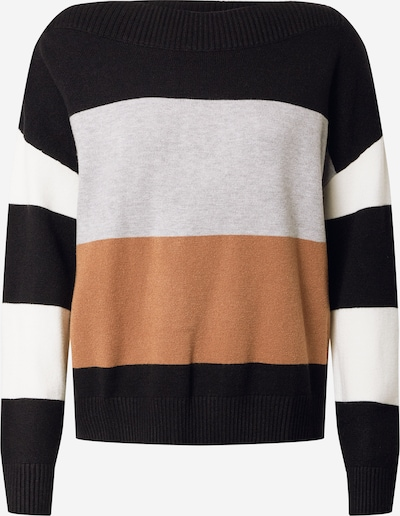 STREET ONE Pullover in braun / grau / schwarz / weiß, Produktansicht