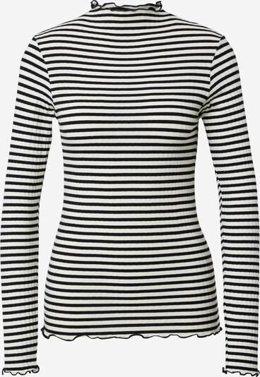 MADS NORGAARD COPENHAGEN Shirt in de kleur Zwart / Offwhite, Productweergave