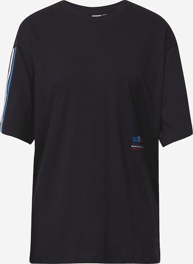 ADIDAS ORIGINALS T-shirt oversize en bleu / rouge / noir / blanc, Vue avec produit
