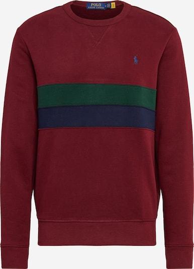 POLO RALPH LAUREN Sweatshirt in de kleur Navy / Donkergroen / Wijnrood, Productweergave