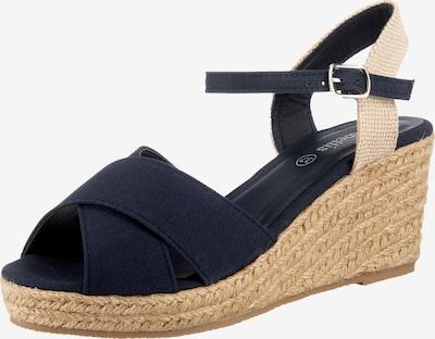 ambellis Peeptoe-Sandalette mit Keilabsatz in dunkelblau, Produktansicht