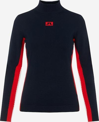 J.Lindeberg Pullover 'Kay' in dunkelblau / rot / weiß, Produktansicht