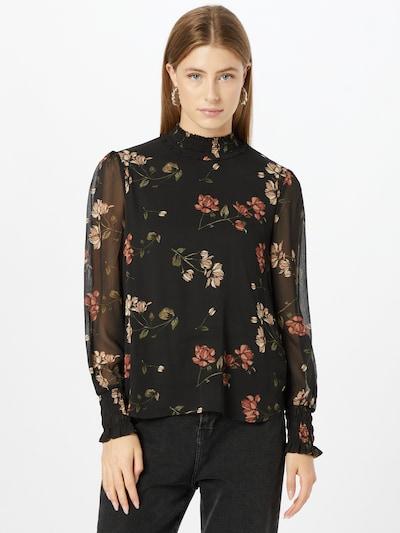 VERO MODA Blouse 'Smilla' in Olive / Pink / Rusty red / Black, View model