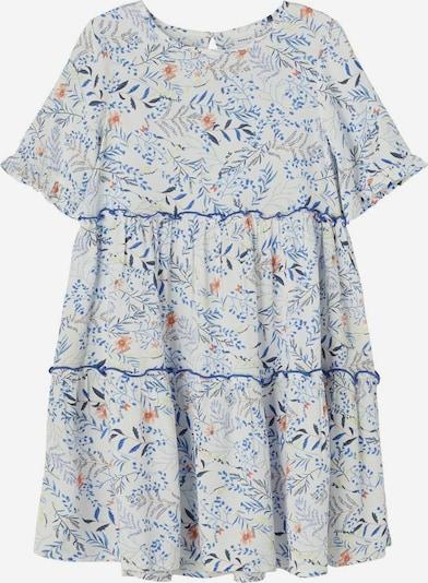 NAME IT Robe en bleu roi / bleu-gris / gris / corail / blanc, Vue avec produit
