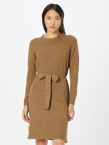 PIECES Gebreide jurk 'CAVA' in Bruin