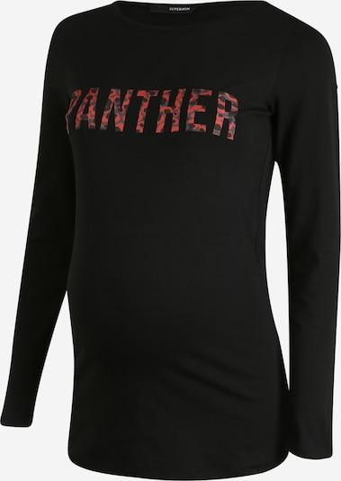 Supermom Shirt 'ls Panther' in nachtblau / rot / schwarz, Produktansicht