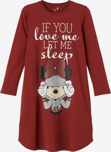 NAME IT Nachthemd 'Minnie Mouse' in de kleur Rood / Donkerrood, Productweergave