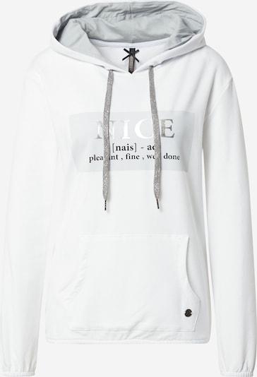 Key Largo Sweatshirt 'FRIENDLY' in grau / schwarz / offwhite, Produktansicht