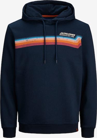 JACK & JONES Sweatshirt 'JORTYLERS' in de kleur Navy / Lichtgeel / Sinaasappel / Rood, Productweergave