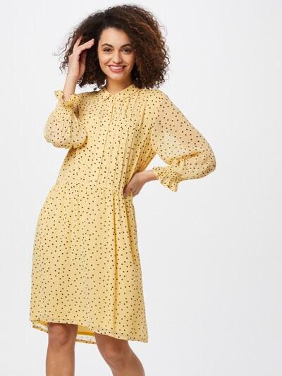 Part Two Kleid 'Helfred' in gelb / schwarz, Modelansicht