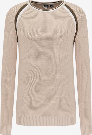 DreiMaster Maritim Pullover in beige / oliv / weiß, Produktansicht