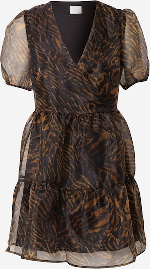 VILA Haljina u tamno smeđa / crna: Prednji pogled
