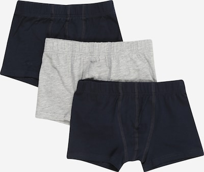 NAME IT Boxershorts in nachtblau / graumeliert: Frontalansicht