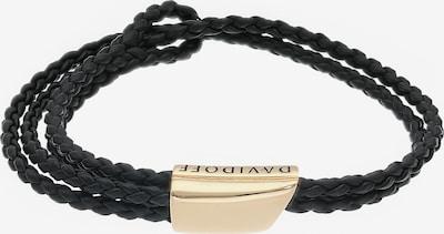 Davidoff Leder Armband 20cm in schwarz, Produktansicht
